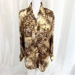 JONES NEW YORK   PERFECT for FALL BLOUSE   1X PLUS